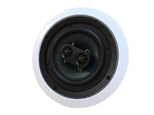 Silver Ticket inCeiling Speaker with Pivoting Full Speaker Adjustable Angle Woofers and Tweeter Dual 525 Inch inCeiling Center Channel