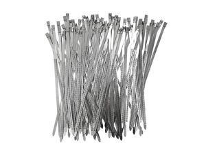 304 Stainless Steel Cable Ties Wrap Coated Self Locking Metal Zip Ties Stainless Steel 118inch