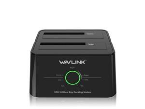 USB 30 to SATA IIIIII DualBay External Hard Drive Docking Station for 2535 Inch HDDSSD with UASP 6Gbps Support Offline Clone Duplicator and Auto Sleep Function 12TB X2 Black