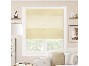 Cordless Magnetic Roman Shades Privacy Fabric Window Blind 23quot W X 64quot H Daily Canvas Light Filtering