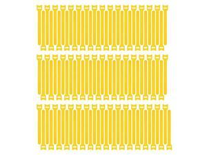 100pcs Reusable Fastening Cable Ties Adjustable Wire Management 8 Inch Yellow