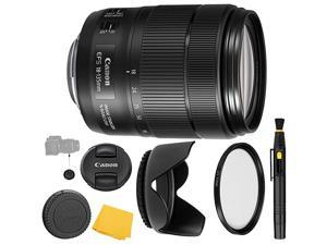 Canon EFS 18135mm f3556 is USM Lens UV Filter + Reversible Tulip Lens Hood + Lens Pen + Lens Cap Keeper + Cleaning Cloth 18135mm is USM International Version 1 Year  Warranty