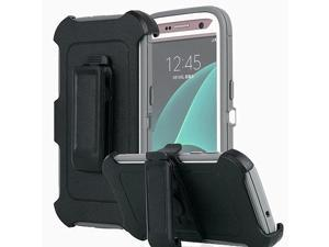 Galaxy S7 Case  Heavy Duty Full Body Tough 4 in 1 Rugged Shockproof Cover with Belt Clip Armor Protective Cover for Samsung Galaxy S7 2016 Grey