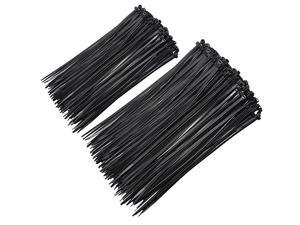 Black Zip Cable Ties 6+8Inch 500 Pack  Durable Standard Nylon SelfLocking Assorted Tie Wraps for Home Office