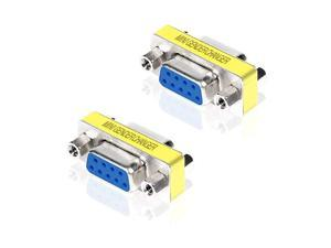 DB9 Serial RS232 COM Gender Changer for USB to RS232 USB to Serial Cable Adapter FF FemaleFemale 2 Pieces