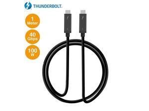 Thunderbolt 3 Certified 40Gbps Thunderbolt 3 Active Cable 1M 100W Charging5A20V Daisy Chain up to 6 Devices USB Type C with Thunderbolt Logo Compatible 33 Ft