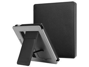 Stand Case for AllNew Kindle Oasis 10th Generation 2019 Release and 9th Generation 2017 Release Premium PU Leather Sleeve Cover with Card Slot and Hand Strap Black
