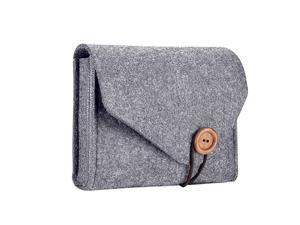 MacBook Power Adapter Case Storage Bag Felt Portable Electronics Accessories Organizer Pouch for MacBook Pro Air Laptop Power Supply Magic Mouse Charger Cable Hard Drive Power Bank Gray