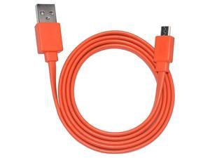 Flat Charging Power Supply Cable Cord Line for JBL Wireless Speaker Orange