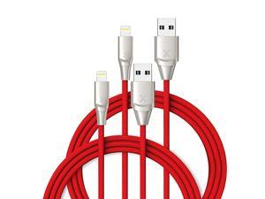 iPhone Charger 2 Pack 6ft Apple MFi Certified Lightning Cable Fast Charger iPhone Cable Durable Braided Nylon Metal Connector Charger Cord for iPhone XXS MaxXR8 Plus765SE iPad Red