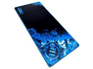 Pathogen Extra Large Gaming Mouse Pad 315 x 1375 in Extended Mousepad with AntiFray Stitching Low Friction Smooth Surface NonSlip Backing Full Desk Mouse Mat Blue