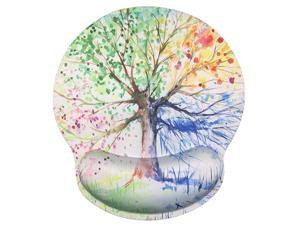 Foam Mousepad with Wrist Support Design Ergonomic Mouse Pad Comfortable Wrist Rest NonSlip PU Base Mouse Mat Tree of Life