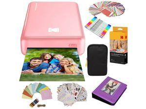 Mini2 Instant Photo Printer Pink Gift Bundle + Paper 20 Sheets + Deluxe Case + 7 Fun Sticker Sets + Twin Tip Markers + Photo Album + Hanging Frames