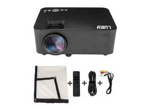 Portable Movie Projector with Free Projector Screen Perfect for Fun Camping Neighborhood Gathering Backyard Movie