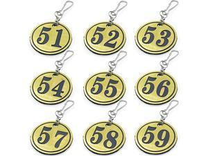 Plastic DoorLockerValvePlantsID Number Tags with Key Ring Pack of 50PCS 51100 Golden