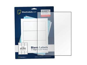 Clear Sticker Paper FullSheet Labels 85quot x 11quot Inkjet or Laser Printable Crystal Clear Gloss No BackSlit 5000 Labels