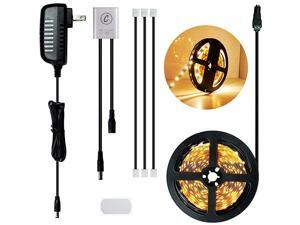 82FT25M Cabinet Lighting Kit Flexible LED Strip Lights Kit with Cabinet Sensor Switch UL Listed Adapter for Gun Safe Cabinet Pantry Wardrobe Lighting Warm White 25M