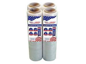 Stretch Film HandShrink Wrap Heavy Duty Moving Supply Packing Boxes Ideal for Furniture and Pallet Wrapping 4 Clear 1100ft 80 Gauge3quot Core