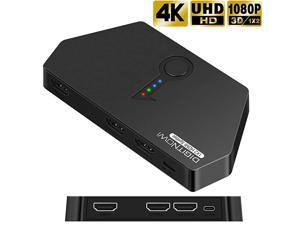 HDMI Splitter 1 in 2 Out 4K HDMI Ver14 HDCP Powered HDMI Splitter Supports 3D 4K30HZ Full HD1080P for Xbox PS4 DVD Players Apple TV BluRay Player Fire Stick