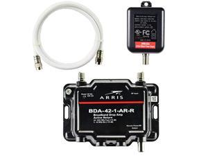 1-Port Cable, Modem, TV, OTA, HDTV Amplifier Signal Booster with Active Return And Coax Cable Kit