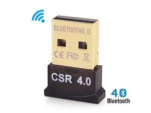 Bluetooth USB Adapter CSR 4.0 USB Dongle Bluetooth Receiver Transfer Wireless Adapter for Laptop PC Support Windows 10/8/7/Vista/XP, Mouse and Keyboard, Headset