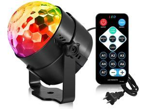Extremella Goods Party Lights Disco Ball Strobe Light Disco Lights are available in seven colors for festive bar club party (black)