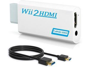 Extremella Goods Wii to HDMI Converter, Wenter Wii to HDMI Adapter, Wii to HDMI 1080p 720p Connector Output Video & 3.5mm Audio with HDMI Cable