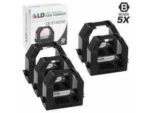 LD Compatible Amano CE-319252 5PK Black Ribbon Cartridges for Amano Series
