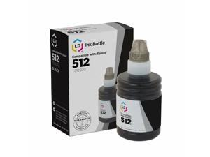 LD Ink Bottle Replacement for Epson 512 T512020 Black ET-770