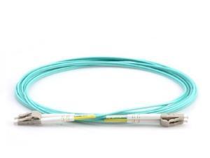 0.5m/1.65ft Duplex Multimode LC to LC Fiber Patch Cable -OM3 10GB Aqua- 5689