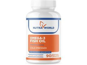 Omega-3 Fish - Soft Gels for Maximum Absorption - High Concentration - 3000 MG Per Serving, Cold-Pressed Fish Oil, Heart Health, Immune Support, 90 Count