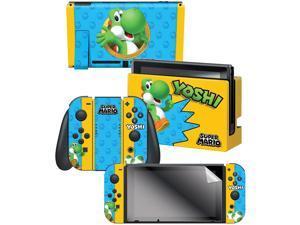 "Controller Gear Nintendo Switch Skin & Screen Protector Set,  By Nintendo - Super Mario Evergreen ""Yoshi"" - Nintendo Switch"