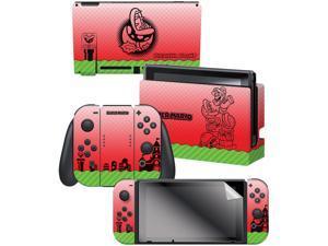 "Controller Gear Nintendo Switch Skin & Screen Protector Set  By Nintendo - Super Mario ""Piranha Plant"" - Nintendo Switch"