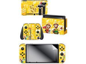 "Controller Gear  Nintendo Switch Skin & Screen Protector Set - Mario Maker ""Builder Bros."" Nintendo Switch"