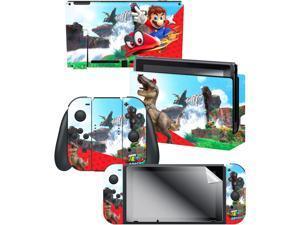 "Controller Gear Super Mario Odyssey: ""Cascade Kingdom"" Skin and Screen Protector Set -  By Nintendo - Nintendo Switch"