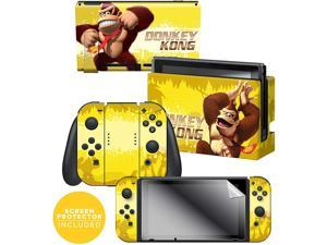 "Controller Gear  Nintendo Switch Skin & Screen Protector Set - Donkey Kong Swing"" - Nintendo Switch"