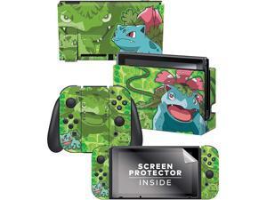 "Controller Gear Nintendo Switch Skin & Screen Protector Set - Pokemon - ""Bulbasaur Evolutions Set 1"" - Nintendo Switch"