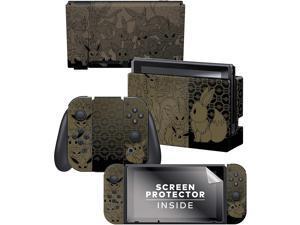 "Controller Gear  Nintendo Switch Skin & Screen Protector Set - Pokemon - ""Eevee Evolutions Set 1"" - Nintendo Switch"
