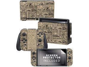 "Controller Gear  Nintendo Switch Skin & Screen Protector Set - The Legend of Zelda: Hieroglyphic"" Switch Skin Bundle - Nintendo Switch"