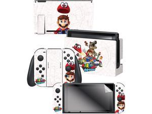 "Controller Gear Nintendo Switch Skin & Screen Protector Set,  By Nintendo - Super Mario Odyssey ""Capture Map"" - Nintendo Switch"