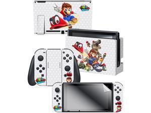 Controller Gear Nintendo Switch Skin & Screen Protector Set,  By Nintendo - Super Mario Odyssey Capture - Nintendo Switch