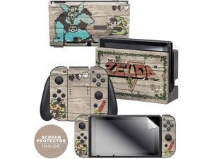 Controller Gear  Nintendo Switch Skin & Screen Protector Set - The Legend of Zelda - Retro Woodgrain - Nintendo Switch