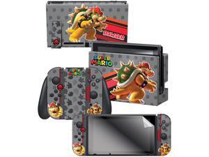"Controller Gear Nintendo Switch Skin & Screen Protector Set,  By Nintendo - Super Mario Evergreen ""Bowser"" - Nintendo Switch"