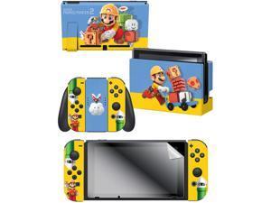 "Controller Gear  Nintendo Switch Skin & Screen Protector Set - Mario Maker ""The Builder"" - Nintendo Switch"