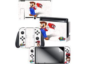 "Controller Gear Nintendo Switch Skin & Screen Protector Set,  By Nintendo - Super Mario Map"" - Nintendo Switch"