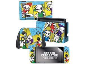 "Controller Gear Nintendo Switch Skin & Screen Protector Set  By Nintendo - Legend of Zelda: ""Pop Art"" Switch Skin Bundle - Nintendo Switch"