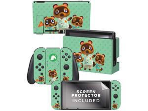 Controller Gear Authentic and  Animal Crossing: Horizons - Tom Nook & Team Nintendo Switch Skin Bundle - Nintendo Switch
