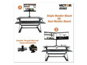 """Monitor Mount Single And Dual Arm 27.5"""" X 3D X 16.5"""" Black Dc002"""