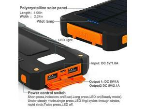 Fast Charge Portable Outdoor Travel Solar Power Bank 2000000mAh Battery Charger