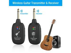 UHF Guitar Wireless System Transmitter  Receiver Kits  Rechargeable Battery US